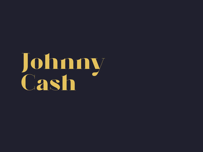 Two faces od Johnny Cash animation landing music cash