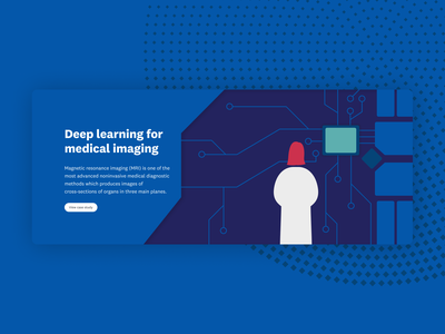 Deep learning — UI case study card components website branding illustration ui