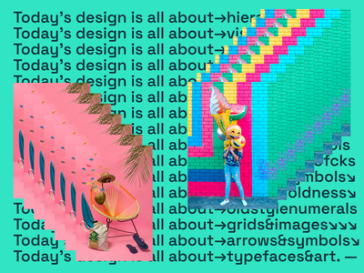 Today's design be like... images grid typogaphy trend trendy