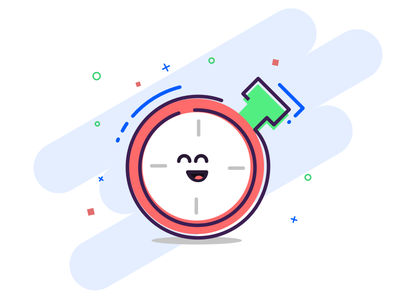 Clokke - time tracker mascot mascot illustration time tracker clokke