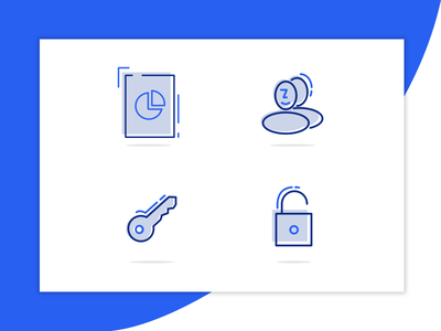 Clokke - feature icons clokke tracker line features icons. illustration