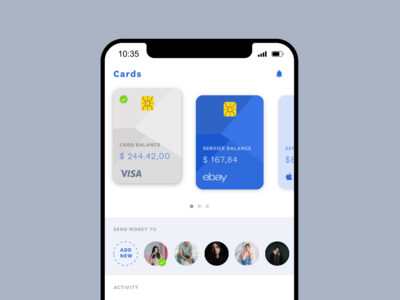 Banking  — app concept ui payment cards banking mobile app
