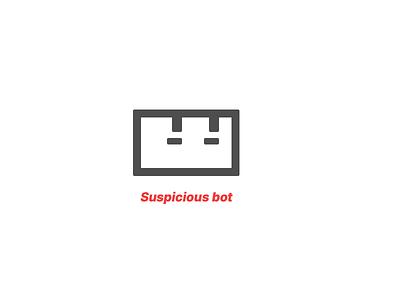 Suspicious bot - logo sign animated robot bot logo animation