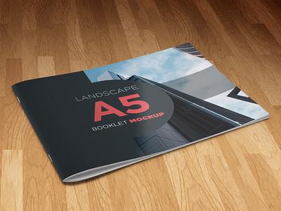 Landscape A5 Booklet Mockup