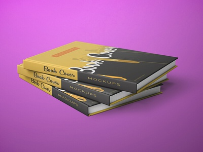 Simple Front and Back Cover Book Mockups