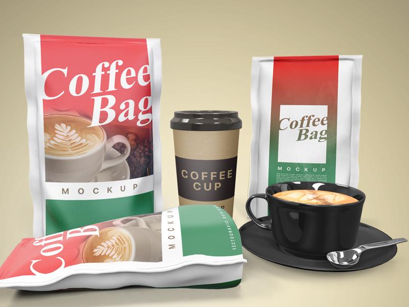 Coffee Bag Mockup product beverage packaging coffee bag