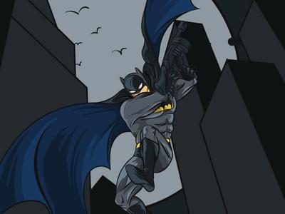 Batman Cartoon Illustration