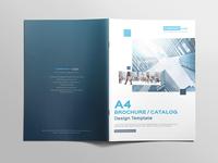 Multipurpose A4 Brochure Catalog Design Template cyan blue a4 design template booklet catalog brochure
