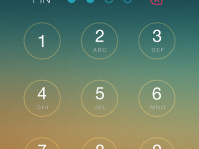 Auth Screen ios 7 auth screen pin code lock authentication minimal iphone simple mobile