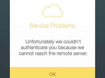 Alert: A or B? ios7 mobile simple blur alert modal message status update cloud prompt