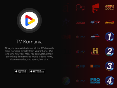 TV Romania streaming channels mac macos ios app tv romania