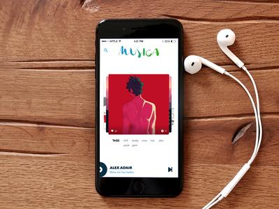 Minimal 8tracks Player ios iphone player audio music app 8tracks