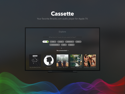 Cassette radio music 8tracks player audio app tv apple cassette