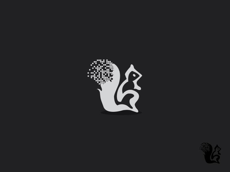 Squirrel illustrator squirrel simple animal logo