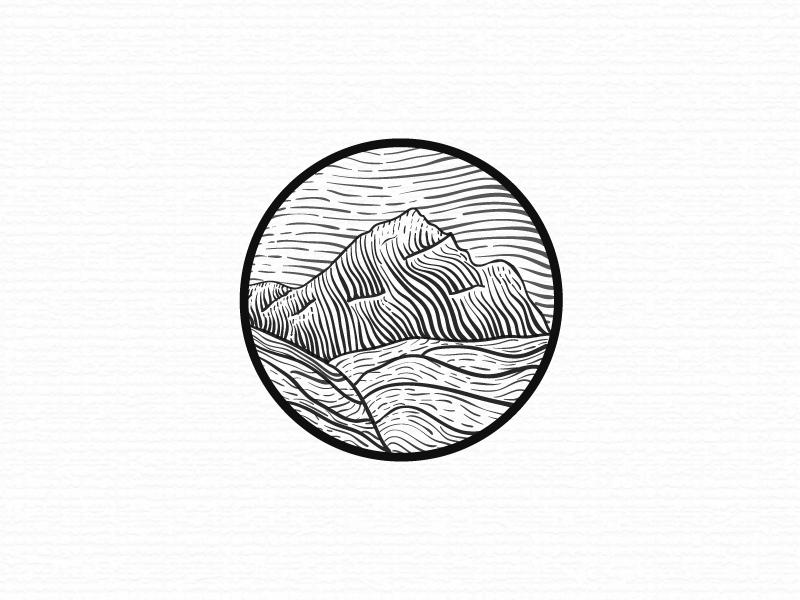Land In Sight wacom linocut line inking ink illustrating engraving drawing bear