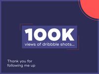 100k views on dribbble