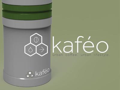 Kafeo Coffee logo icon product urban products coffee branding