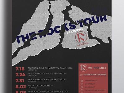 The Rebuilt Poster band logo band branding brand identity local music music