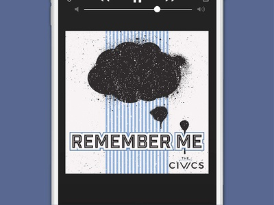 The Civics, Remember Me Single | Concept 1 music local music brand identity branding band song single cover art