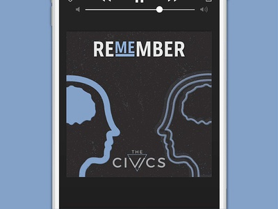 The Civics, Remember Me Single | Concept 2 music local music brand identity branding band song single cover art