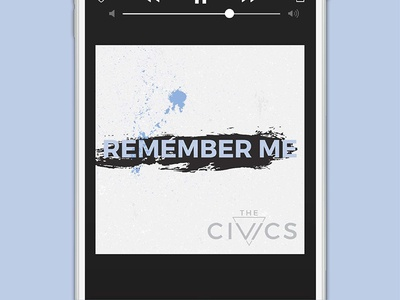 The Civics, Remember Me Single | Concept 3 music local music brand identity branding band song single cover art