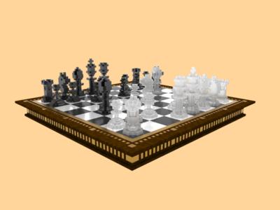 voxel chess set