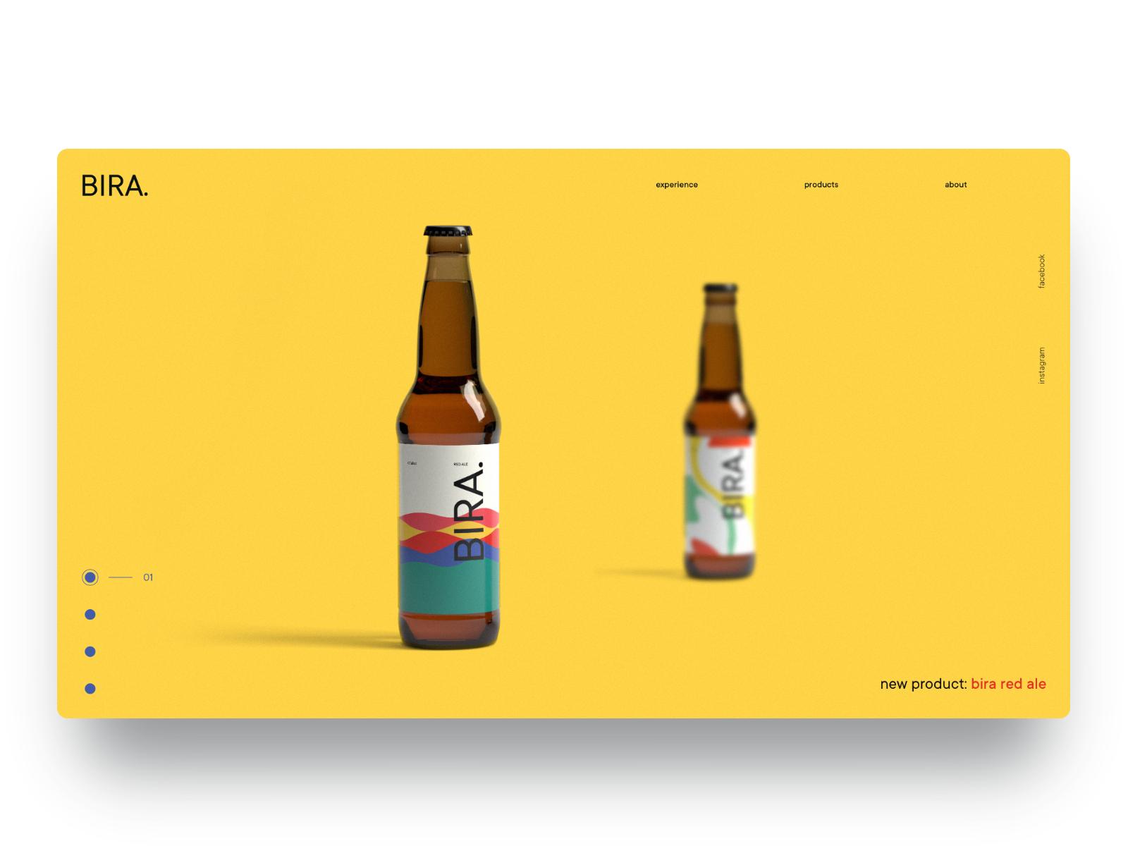 BIRA UI Design uidaily inspiration uidesign beer branding