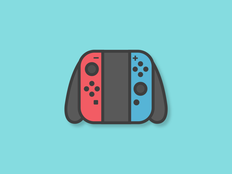 Joy Con switch nintendo illustration