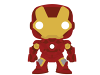 Iron Man Mark VII Funko Pop for Stickermule's magnet promo