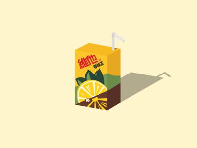 Vita Lemon Tea graphic illustration tea lemon vita