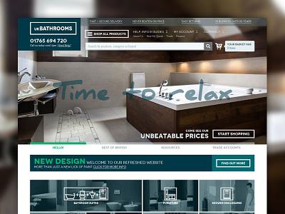 ukBathrooms Home responsive ecommerce header banner