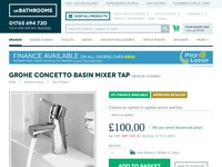 ukBathrooms Product Page