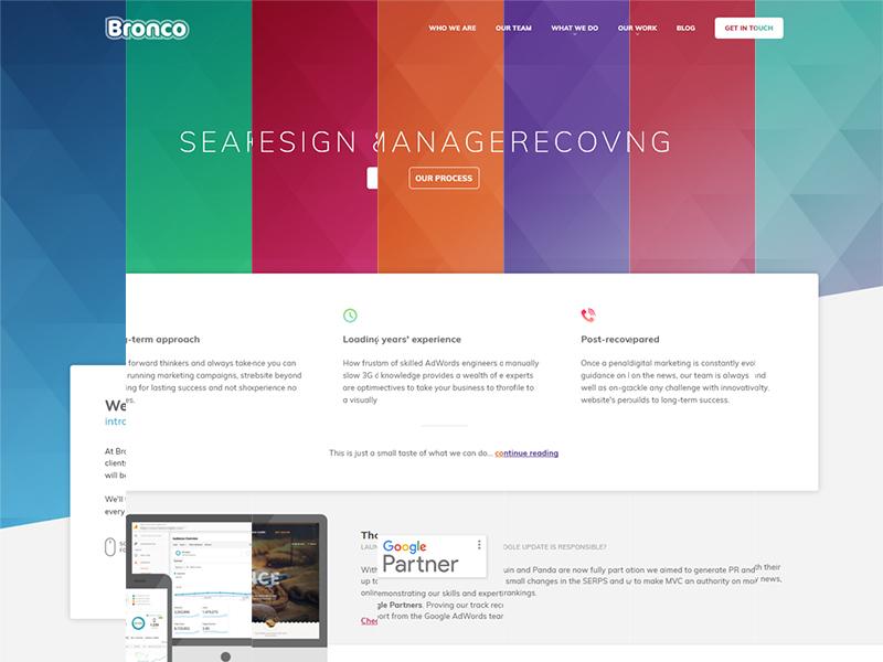 Bronco 2017 colours navigation header agency website