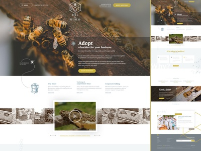 Bees for Business navigation header center logo clean video banner website csr corporate social responsibility bees