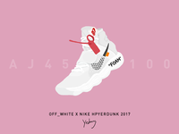 Sneakers-OFF_WHITE x NIKE Hyperdunk 2017