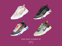 Sneakers-NIKE React Element 87