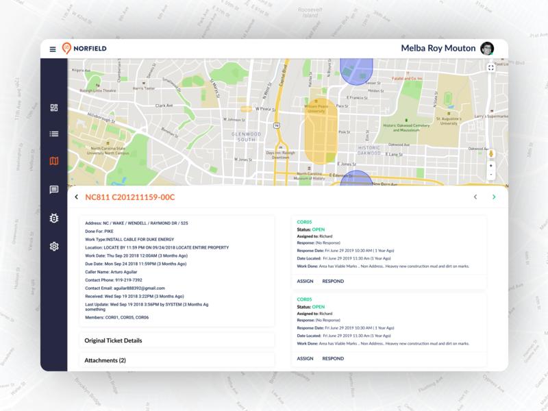 Design for Ticket Information dashboard ui app ux ui design