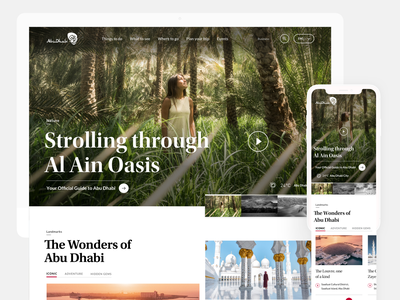 Visit Abu Dhabi digital design information architecture website planning digital design ui ux