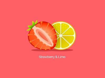 Rocket Juice design branding digital packaging strawberry lime rocket juice