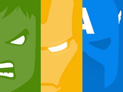Heroes simple design posters heroes ironman captain america hulk green yellow blue