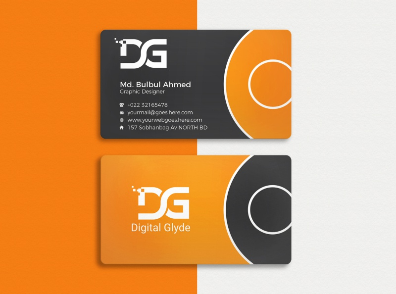 Professional business card design 01