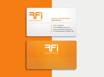Professional business card design 02