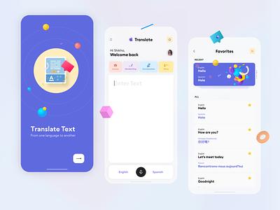 Apple Translate - UX Concept app design apple translate translate design uxd technologies latest clean ui ux