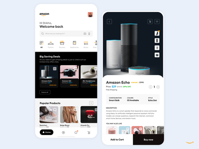 Amazon UX Concept enterprise mobile app inspire uxd design studio uxd technologies shikha gupta clean latest ux ui amazon