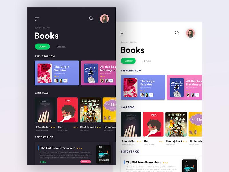 Books App Landing UI