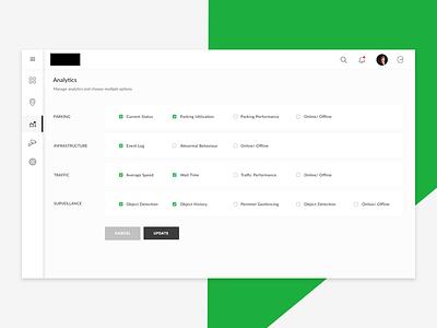 Analytics - Settings UI/UX inspire uxd uxd technologies design studio creative clean latest shikha gupta ui ux