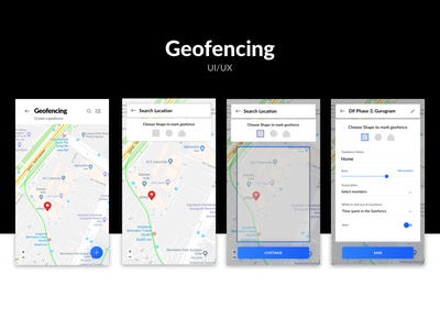 Geofencing UI/UX geofencing inspire uxd uxd technologies design studio shikha neat latest clean shikha gupta ui ux