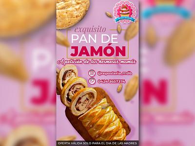 Flyer for Venezuelan Jam's Bread Offer in the Mom's Day momsday flyer photoshop offer design bread