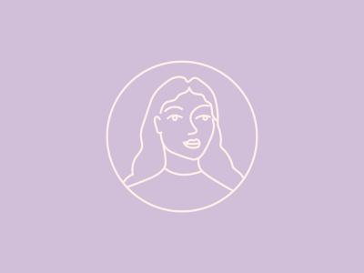 Self portrait stamp woman illustration icon artwork graphic design stamp simplicity line art vector illustration brand identity design