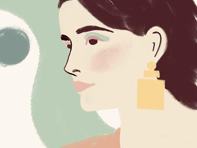Subtle Beauty sophisticated pastel pro create gouache jewelery cosmetics beauty body positive illustration